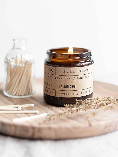 Full moon candle jar