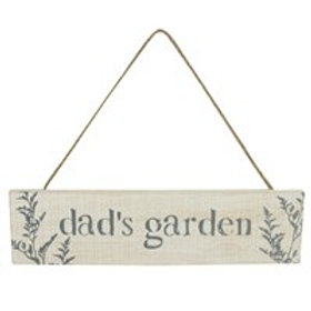 Dad's garden plaque