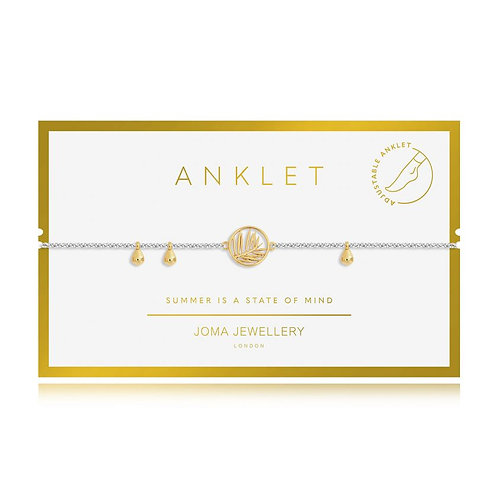 Gold palm anklet