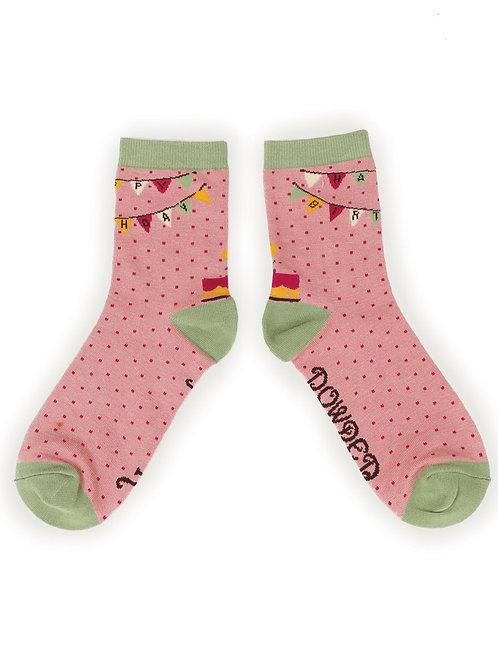 Happy Birthday ladies ankle socks