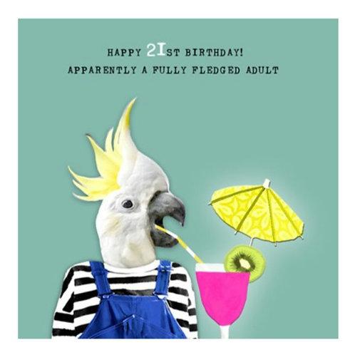 21st Birthday -Greeting Card
