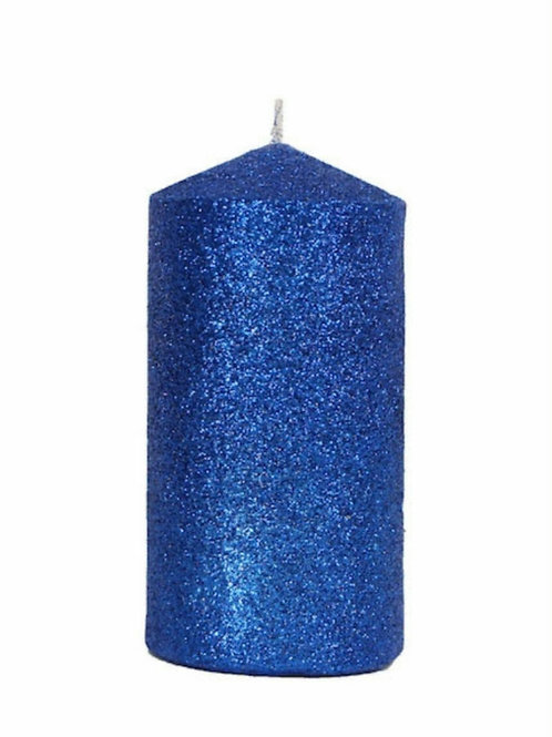 Glitter cylinder candle (2 colours)