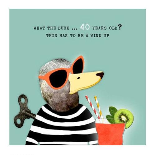 40th Birthday -Greeting Card