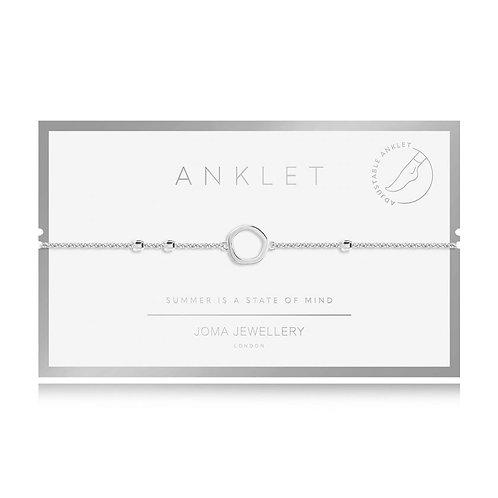 Silver loop anklet