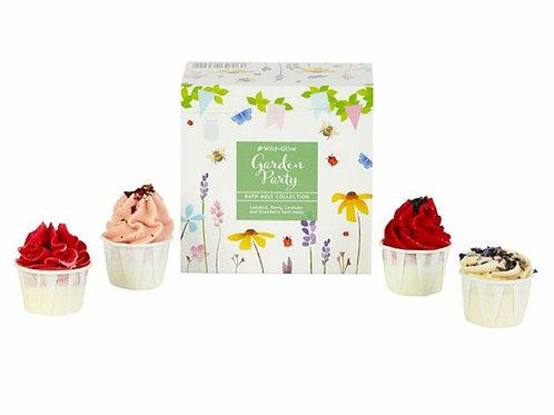 Garden party bath melt gift set
