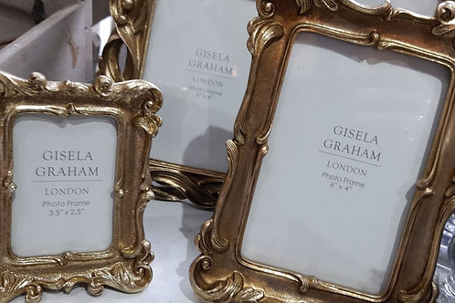 Gold swirl picture frame (3 sizes)