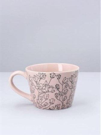 Magnolias artisian mug