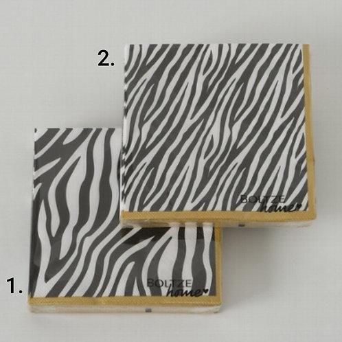 Zebra print napkins