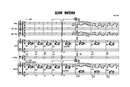 Slow Motion by Kira Linn - Score&Parts