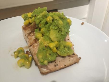 Recipe: Salmon w/ Corn Guacamole