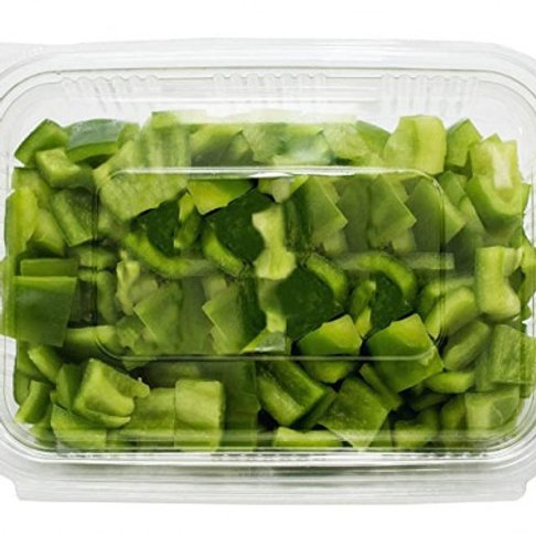 Capsicum Green (Simla Mirchi)-Cut