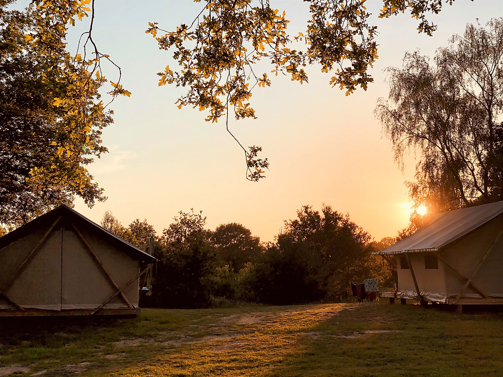 Huttopia Camping de Roos Trappeur Tents - the Netherlands
