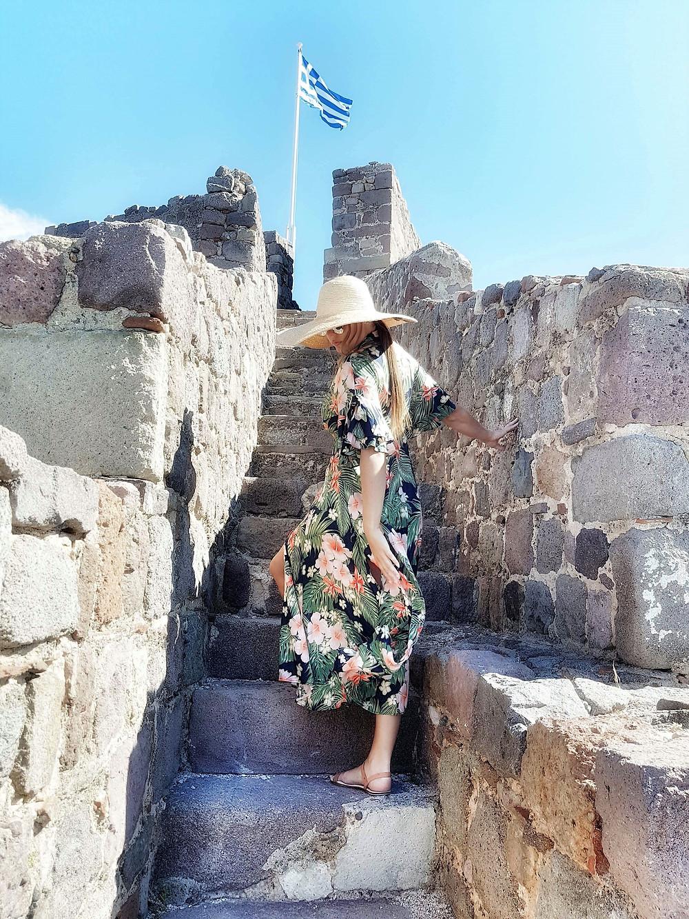 exploring Molyvos castle Lesvos