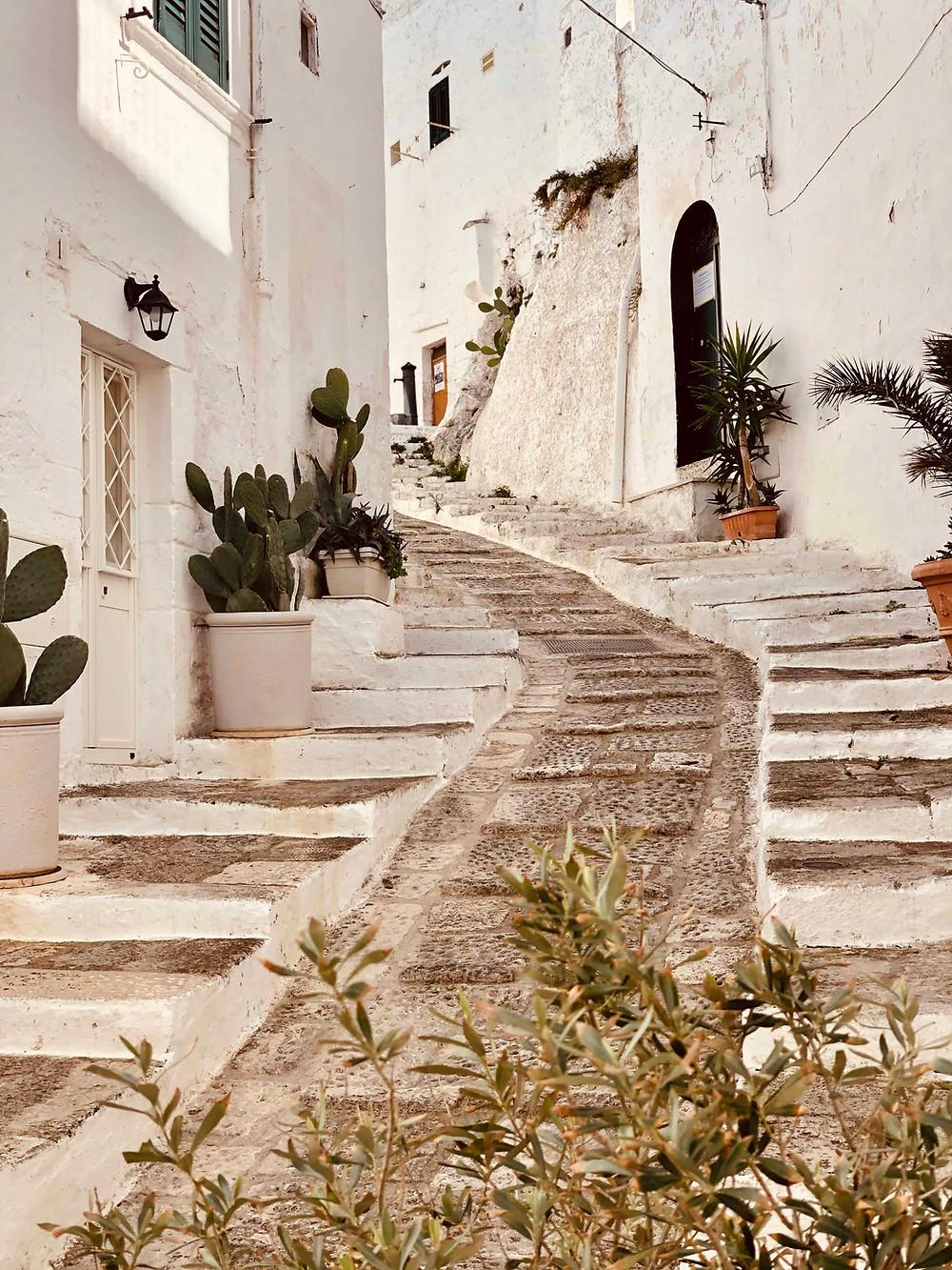 Alleys of Ostuni Puglia-Italy