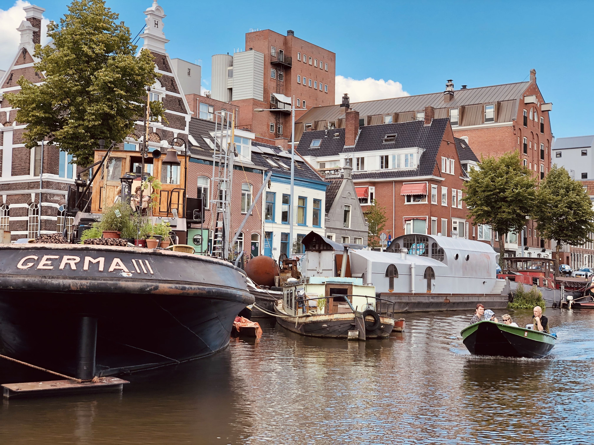 Boatviews of Groningen city-The Netherlands with Diepsloep