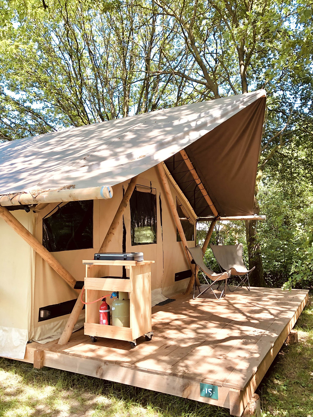 Huttopia Trappeur glamping tent Beerze - the Netherlands