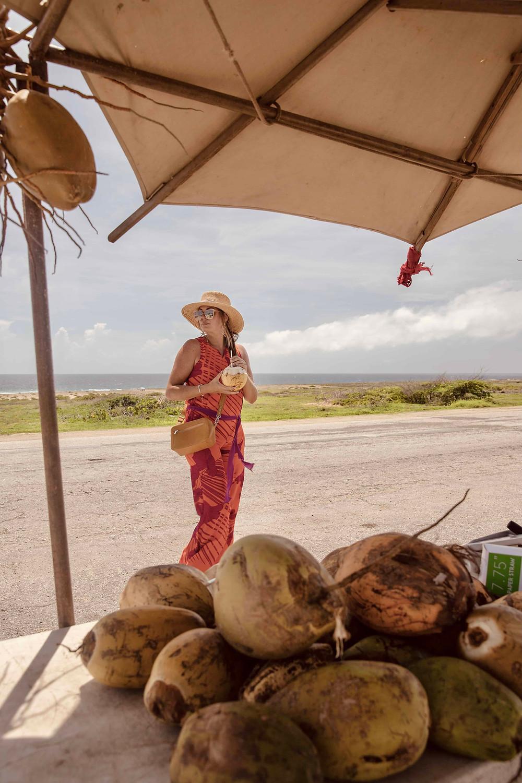 Seroe Colorado local coconut stall Aruba