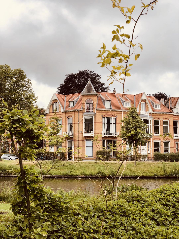 Hortus Botanicus views Leiden Netherlands