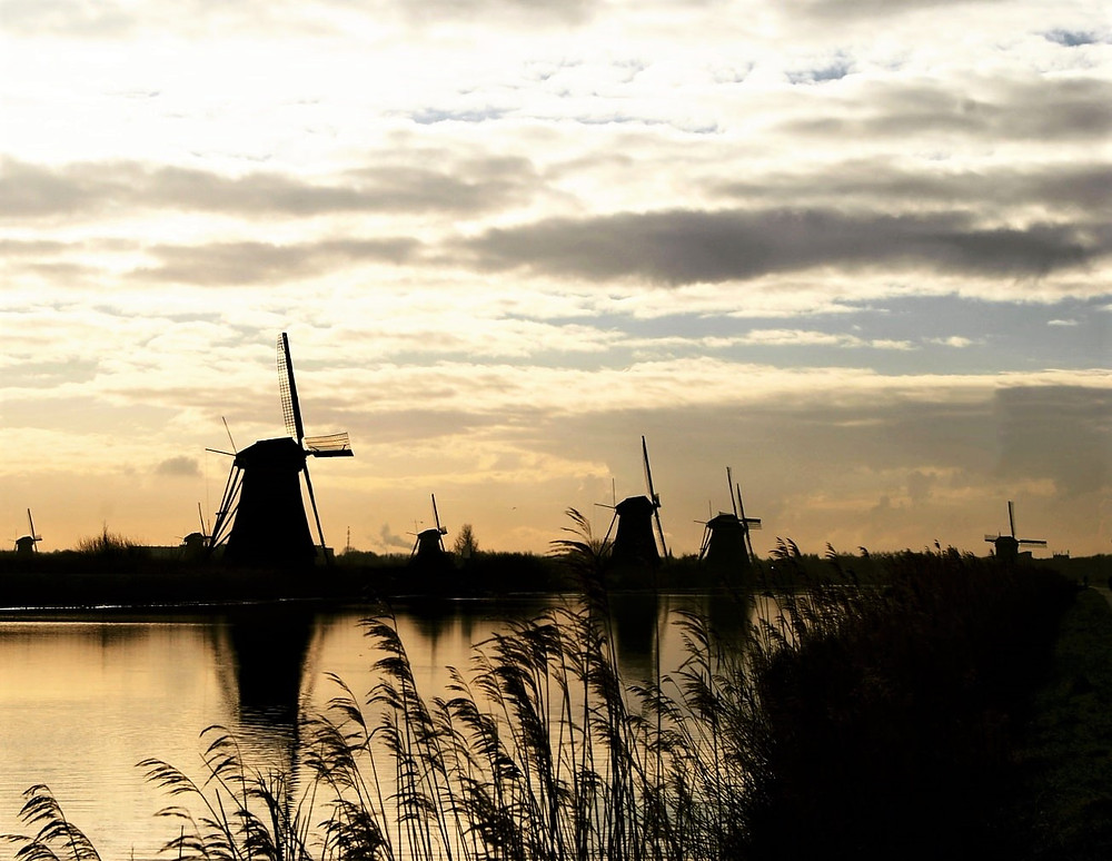 Kinderdijk sunrise - the Netherlands