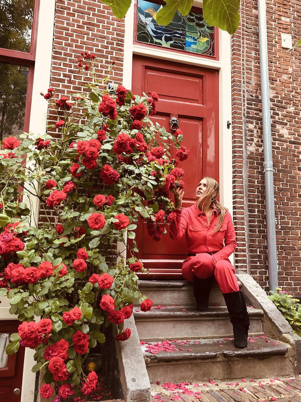Leiden quaint houses and flowers Netherlands citytrip