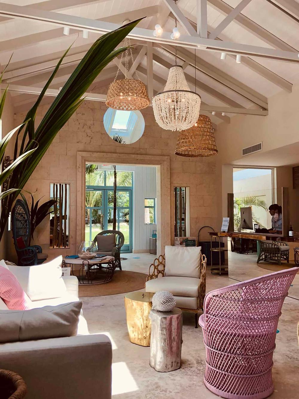 Lobby of Boardwalk Boutique Hotel in Palm Beach Aruba