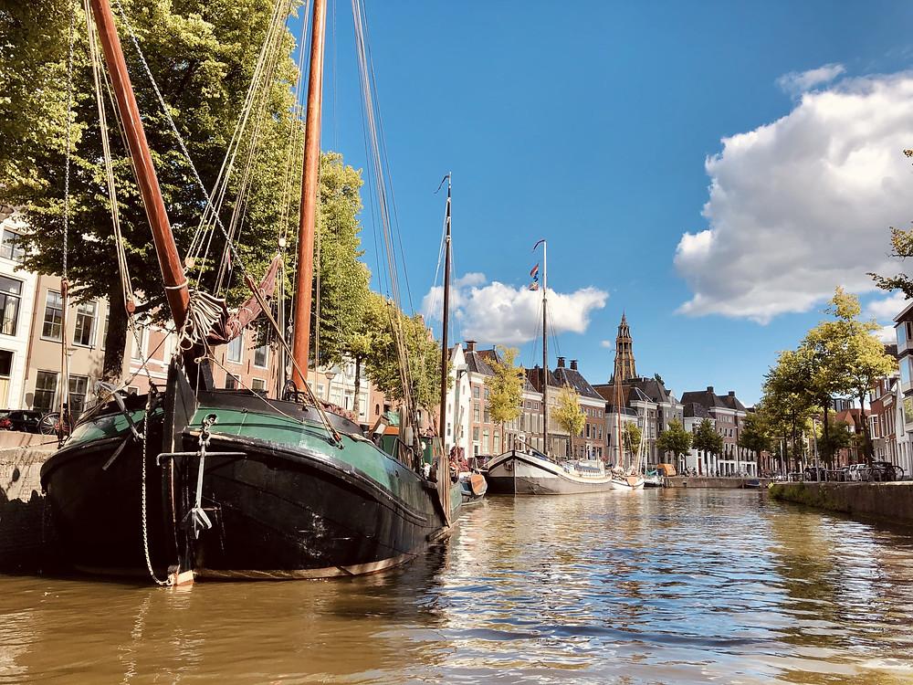 Hoge der A canal Groningen city-Netherlands