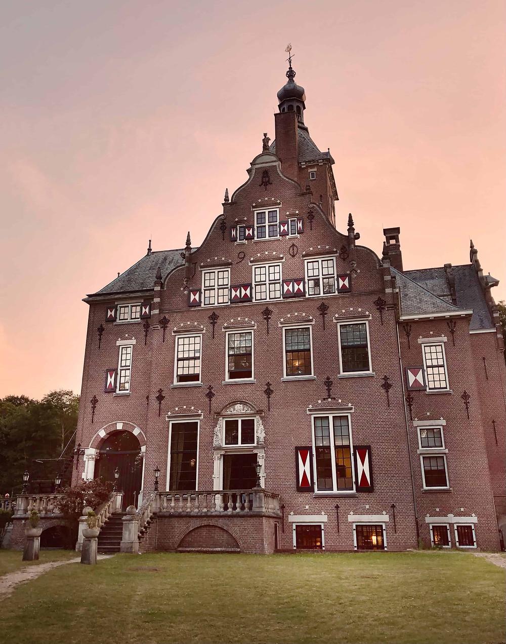 Duin & Kruidberg Hotel at sunset Santpoort-Noord-Velsen-Netherlands