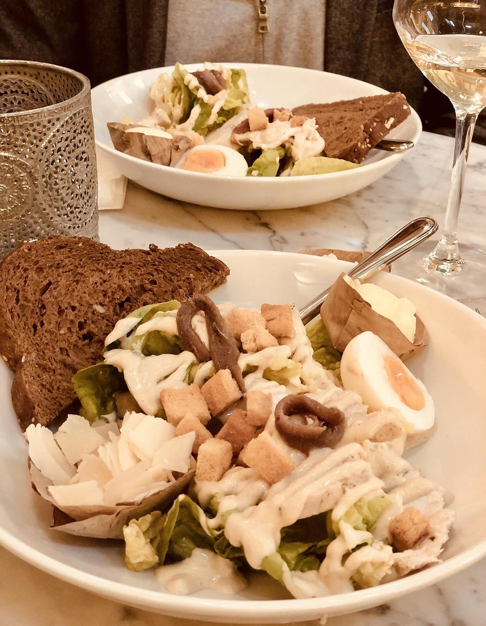 Restaurant Waag Caesar Salad Leiden Netherlands