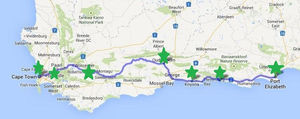 Map Of Route 62 South Africa.Ultimate South Africa Road Trip Part 2 Stellenbosch Route 62