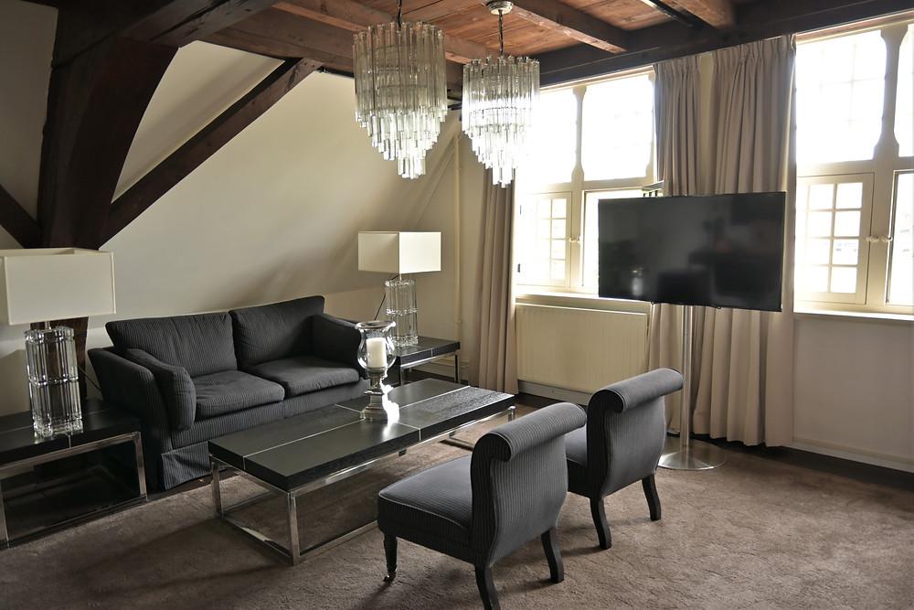 Leiden Steenhof Suites Premium Suite living Netherlands staycation