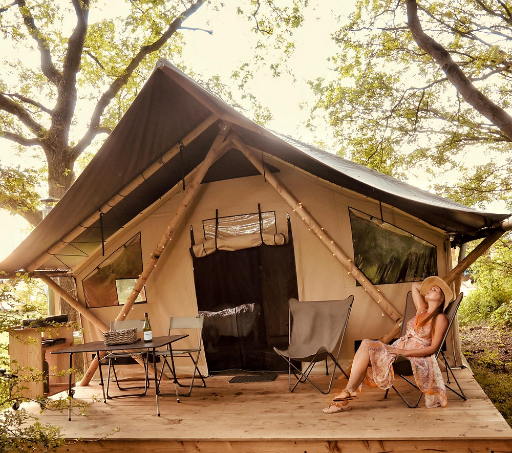 Huttopia Trappeur glamping tent in Overijssel - the Netherlands