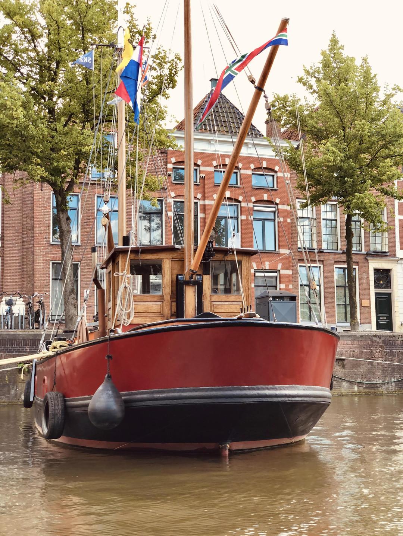Boatviews of Groningen city-The Netherlands with Diepsloep