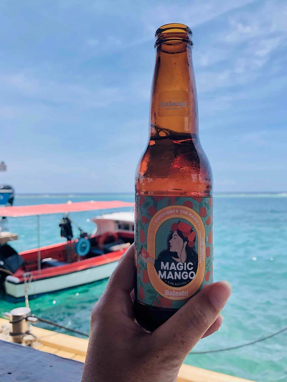 Local beer at Zeerover Savaneta Aruba