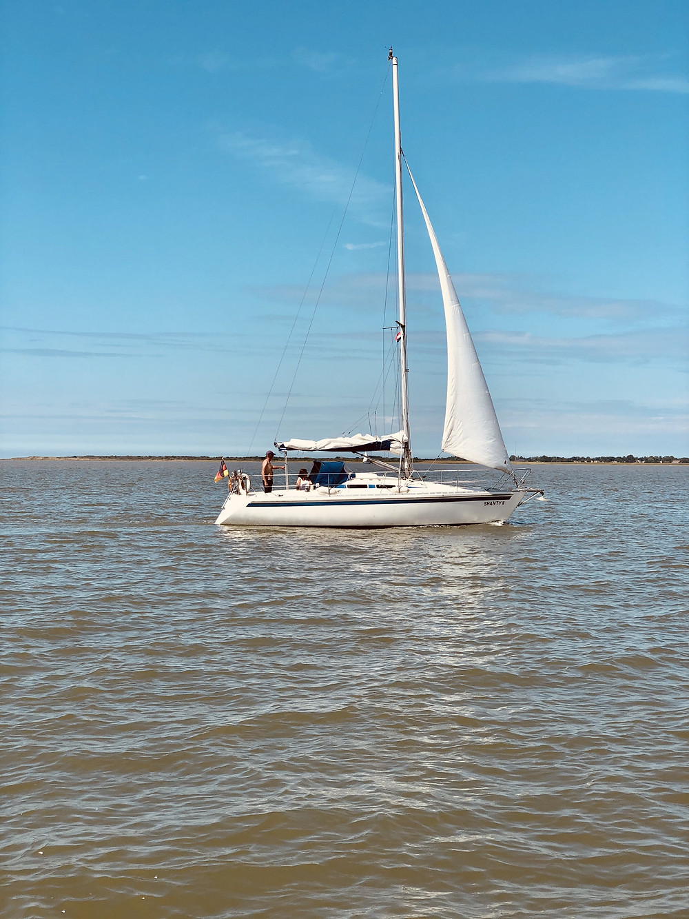 Sailing the Wadden Sea at Lauwersoog-The Netherlands