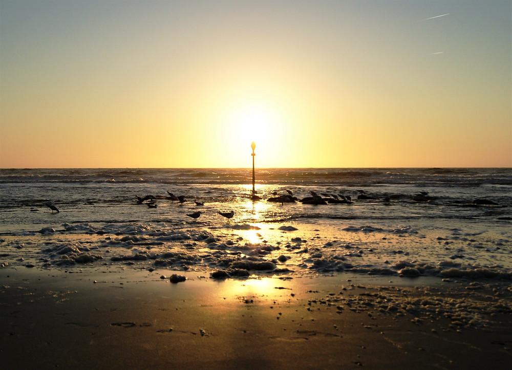 Kijkduin beach sunset-The Hague, the Netherlands