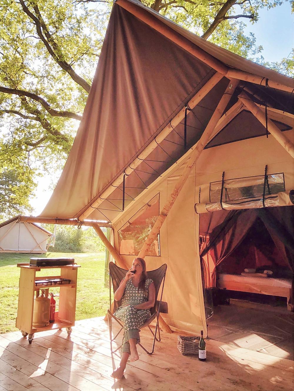 Trappeur glamping tent Huttopia Camping de Roos in Beerze - Overijssel - the Netherlands