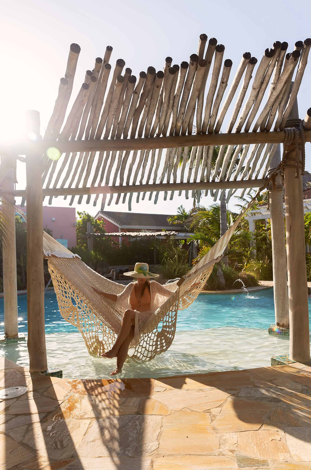 Overwater hammock at Boardwalk Boutique Hotel Aruba