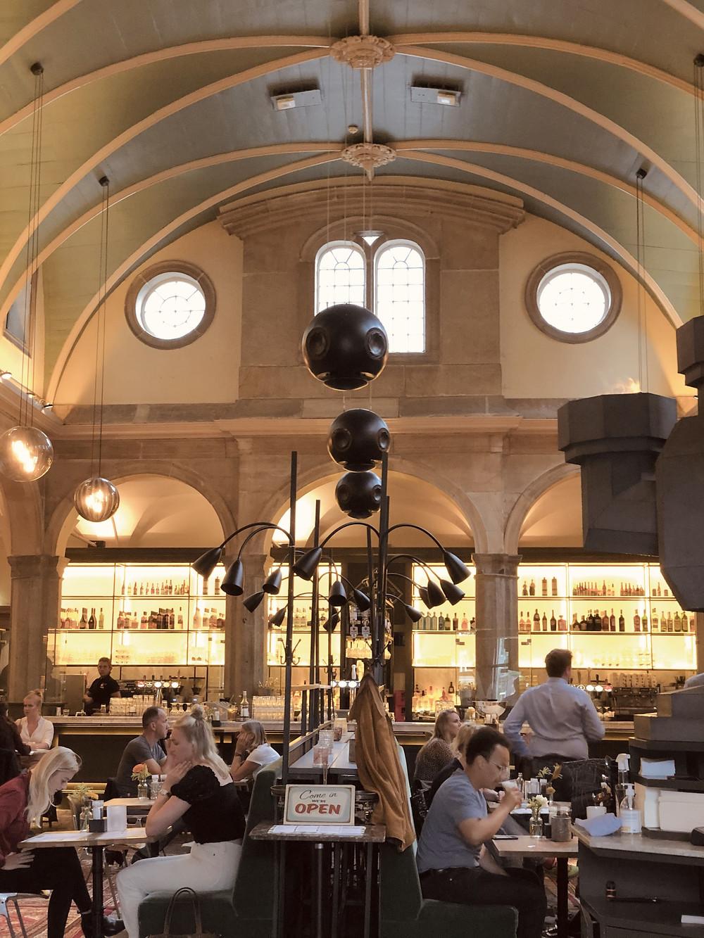 Restaurant Waag interior Leiden Netherlands citytrip