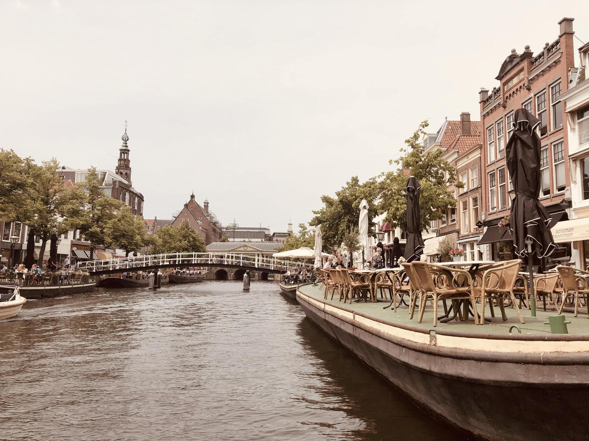 Leiden canals Netherlands