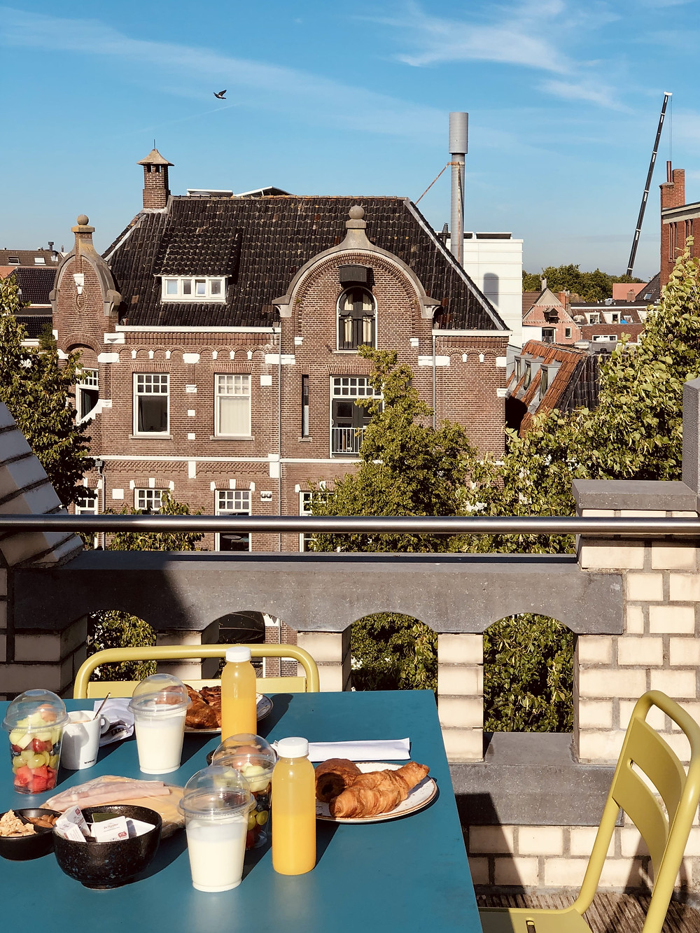 Hotel Miss Blanche rooftop terrace breakfast Groningen-The Netherlands