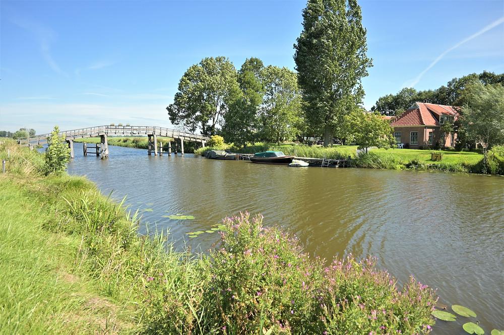 Reitdiep canal Ommelanden of Groningen province