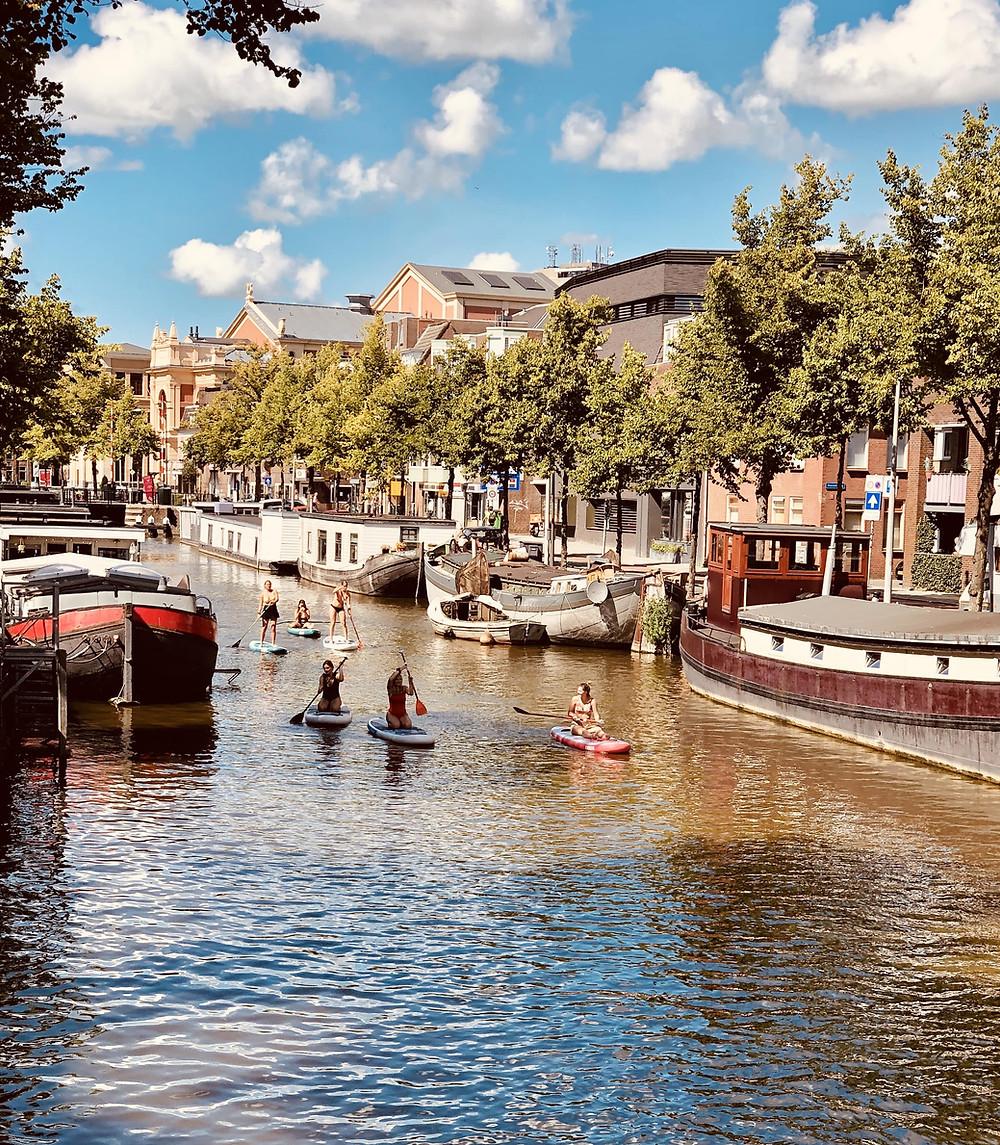 Groningen city Reitdiep-The Netherlands