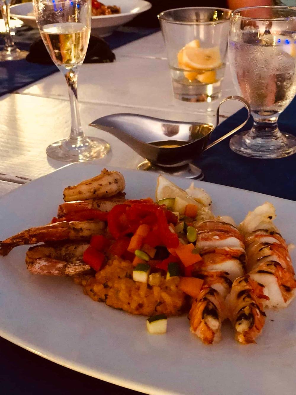 Lobster at Flying Fishbone Restaurant Savaneta Aruba