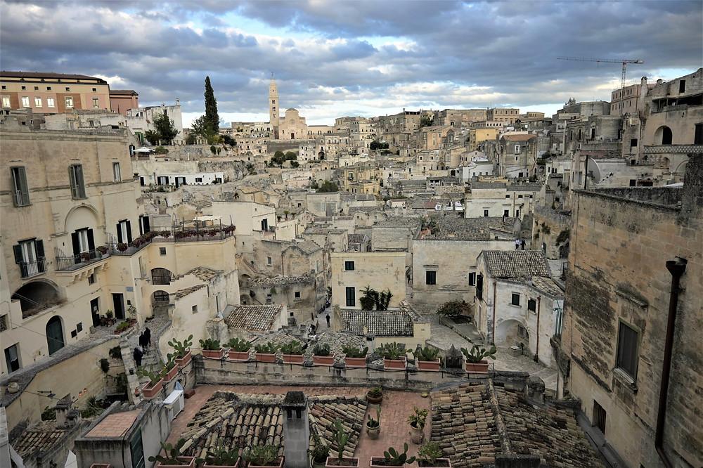 View of Sassi di Matera-Puglia Italy