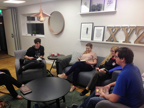Small Group time in the lounge