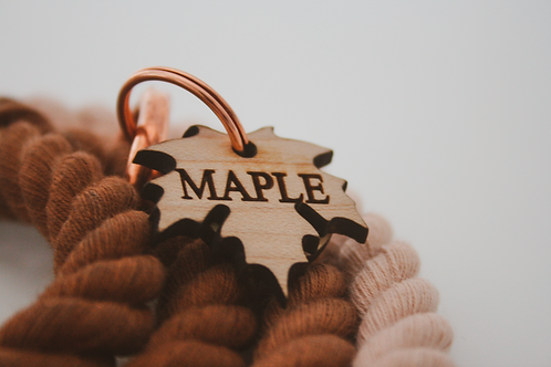 Maple Leaf Name Tag