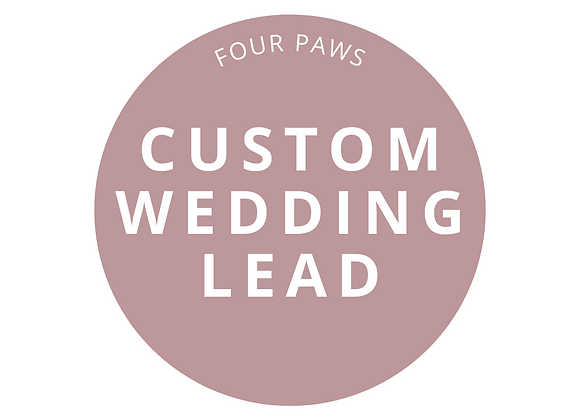 Custom wedding lead
