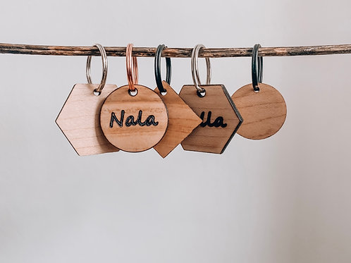 Personalised Wooden Name Tag