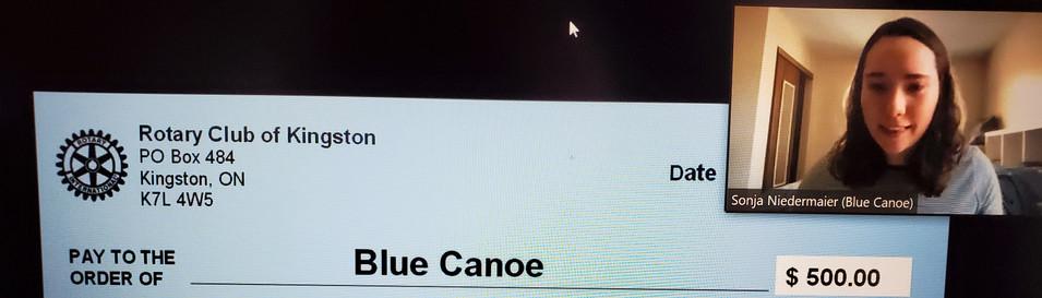 Blue Canoe - Rotary Centennial Grant