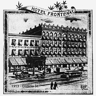 1913 Hotel Frontenac OntarioSt from Dail